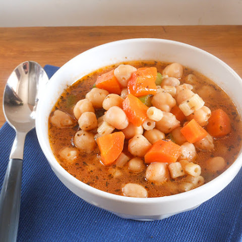 Chickpea soup (also known as garbanzo beans) Minestrone di ceci