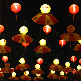 Umbrella Lampion by Mulawardi Sutanto - Abstract Patterns ( umbrella, lampion, travel, light, china town )