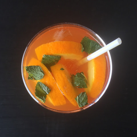 Ginger, Mint & Orange Ice Tea