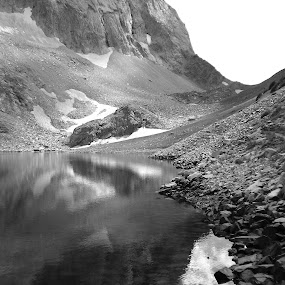 B&W Lake by Max Marolt - Landscapes Mountains & Hills