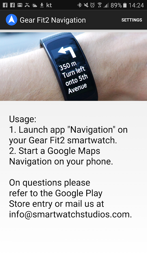 Gear Fit2 Navigation Screenshot 3