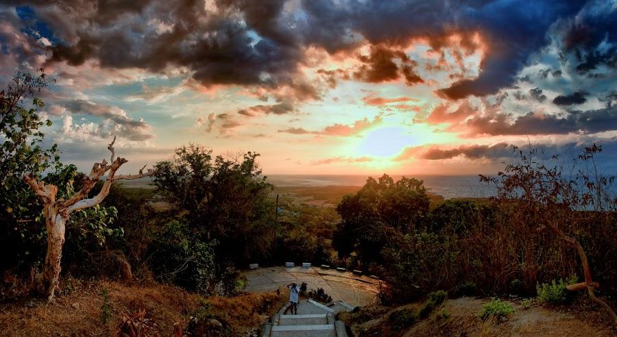 Cape Bojeador Sunset by Artgie Lopez - Novices Only Landscapes ( places, travel, jeek! photography, landscape, philippines, bojeador )