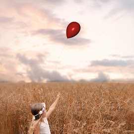 My Red Balloon by Love Time - Babies & Children Child Portraits