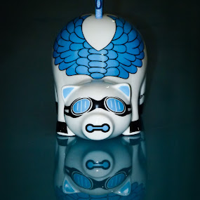 piggy blue by Pandu Sinatriyo - Artistic Objects Other Objects ( reflection, save, money, saving, pig )
