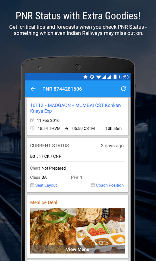 PNR Status & Indian rail info Screenshot 0
