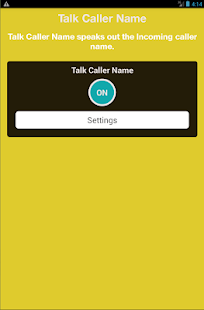 Call Name Talker - screenshot