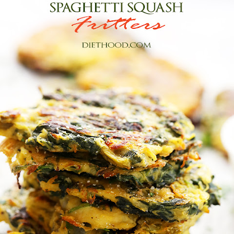 Spinach, Kale and Spaghetti Squash Fritters