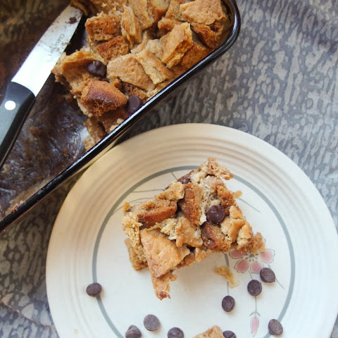 Chocolate Chip Eggnog Bread Pudding