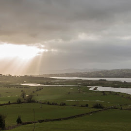 And then there was light by Liam Coburn Dunne - Landscapes Prairies, Meadows & Fields ( clouds, nikon 24-70, nikon d800, green, moody, light., rays, sun, donegal, fields,  )