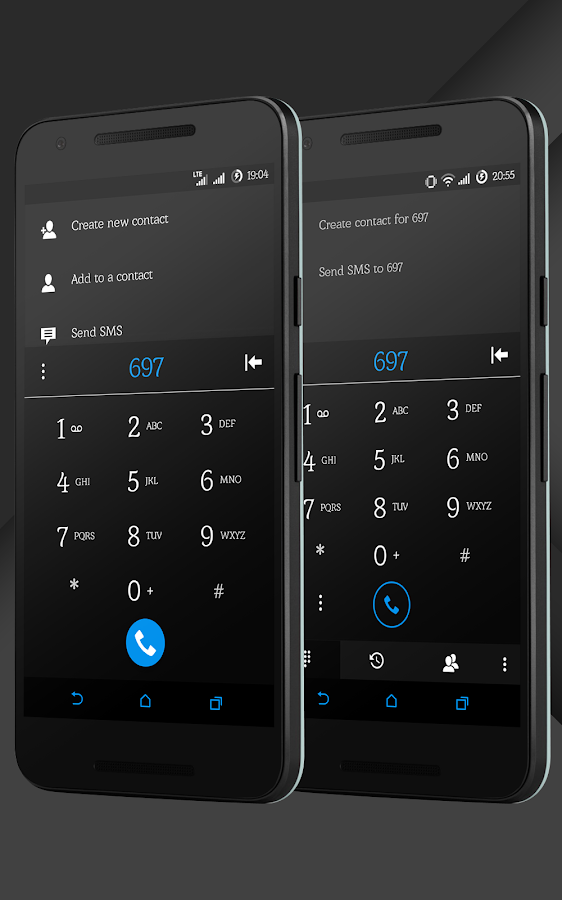 Sense Black/Blue cm13 theme Screenshot 4