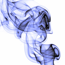 Smoky Blues by Larry Strong - Abstract Macro ( abstract, macro, blue, smoke )