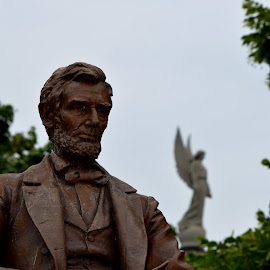 Lincoln and the Angel by Dennis Pannell - Buildings & Architecture Statues & Monuments