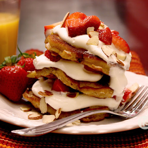 Strawberry Almond Pancakes