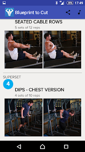 Blueprint to cut trainer bodybuilding app android fitness blueprint to cut fitness app screenshot for android malvernweather Image collections