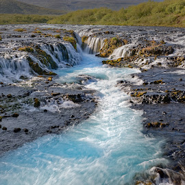 Watterfall Bruarfoss, Iceland by Michaela Firešová - Landscapes Waterscapes ( iceland, waterfall, cascades, landscape, river )