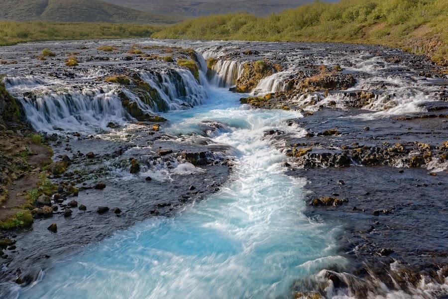 Watterfall Bruarfoss, Iceland by Michaela Firešová - Landscapes Waterscapes ( iceland, waterfall, cascades, landscape, river )