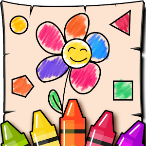 ????Kids Shapes and Colors, Coloring book Free Games
