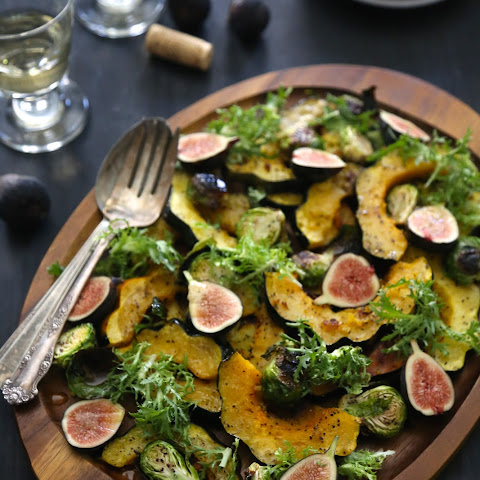 Brussel Sprout & Ginger Roasted Squash Salad