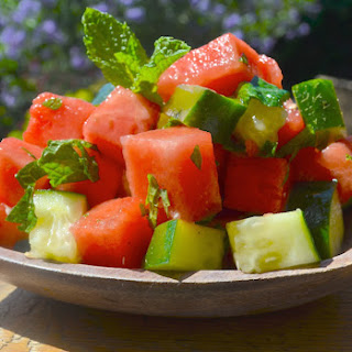 Minted Watermelon & Cucumber Salad