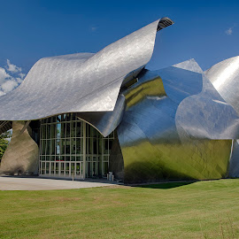 fisher performing arts by Bob Ricketson - Buildings & Architecture Other Exteriors ( exterior, metal, sunny, performing arts, summer, architecture )