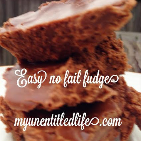 Easy No Fail Fudge