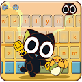 Free Black Cat Keyboard Theme-Legend of Luoxiaohei APK for Windows 8