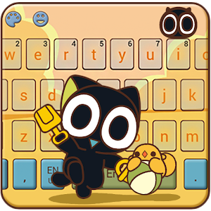 Black Cat Keyboard Theme-Legend of Luoxiaohei for PC-Windows 7,8,10 and Mac