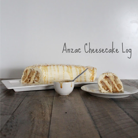 Anzac Cheesecake Log
