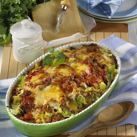Savoy Cabbage and Bolognese Casserole