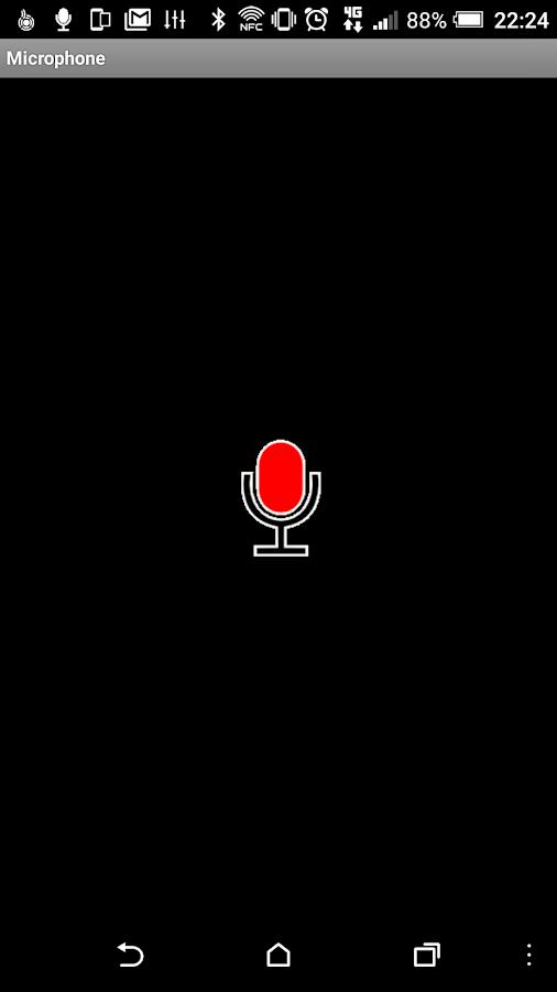 Mikrofon – Screenshot