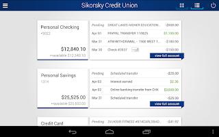 Screenshot of Sikorsky Credit Union