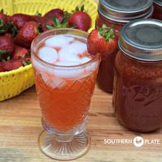 Strawberry Lemonade Concentrate - can it now to enjoy later!