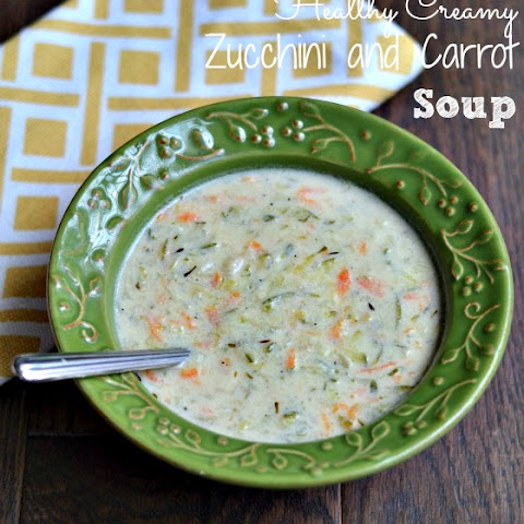 Quick & Healthy Creamy Zucchini and Carrot Soup