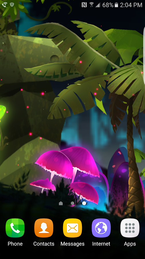 Fantasy Mushroom Jungle LWP Screenshot 0