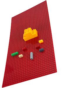Пластина Baseplate для конструкторов, красная, 28*56