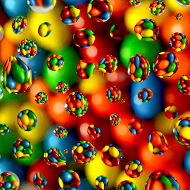 Colorful Waterdrops by Jesus Heras - Abstract Water Drops & Splashes ( colorful, waterdrops,  )
