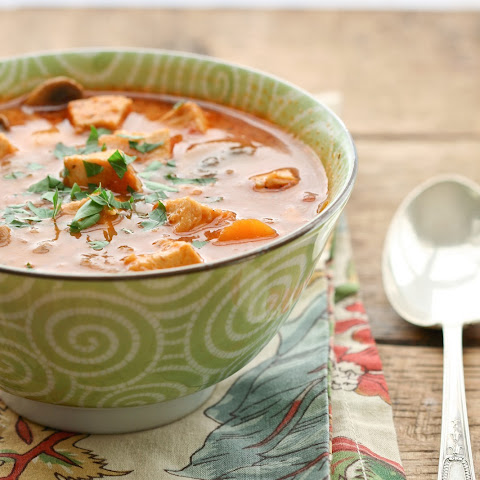 Creamy Chicken, Tomato and Vegetable Soup