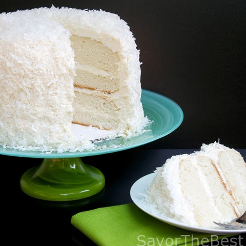 Coconut Cake with Awesome Coconut Butter-Cream Frosting