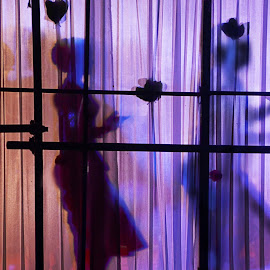 Art of dancers behind the stage. by Arvind Akki - Abstract Patterns ( dancers, silhouette, people, stage )