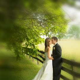 Private Moment by D Barksdale - Wedding Bride & Groom ( portraiture, wedding, bride and groom, bride, couples )