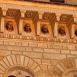 Florence by Jim Antonicello - Buildings & Architecture Architectural Detail ( building, florence, architecture, figures, famous italians )