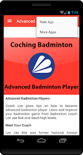 Advanced Badminton Player- screenshot thumbnail