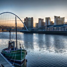 Newcastle Quayside by Adam Lang - City,  Street & Park  Historic Districts ( blatic, river tyne, quayside, gateshead, newcastle )