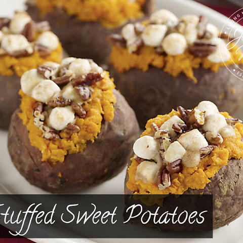 Stuffed Sweet Potatoes with Pecan and Marshmallow Streusel Recipe ...