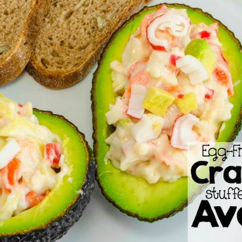 Egg-Free Crab Salad Stuffed Avocados