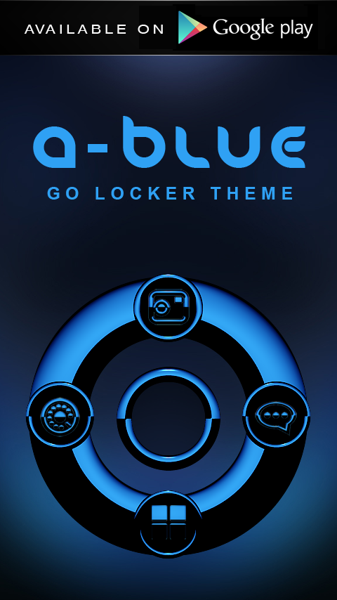 A-BLUE Next Launcher 3D Theme Screenshot 7