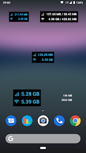 Data counter widget    - usage Screenshot