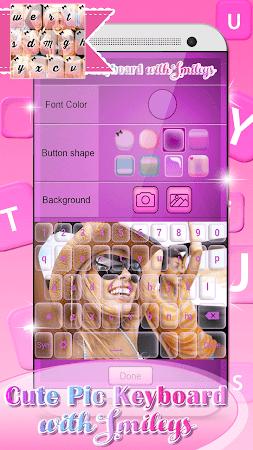 Cute Pic Keyboard with Smileys 3.0 screenshot 2090737