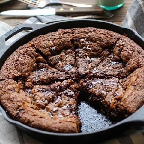 Deep Dish Paleo Salted Chocolate Chip Cookie