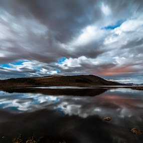 Cloud reflections by Benny Høynes - Landscapes Cloud Formations ( clouds, canon, bennyhøynes, formations, sea, lake, landscapes, norway )